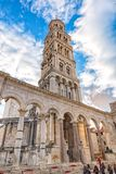 Bell tower of St Duje Dujum. Chatedral and bell tower of St. Duje Dujum in Split, Croatia. One of the most popular turist spots in Split Stock Photography