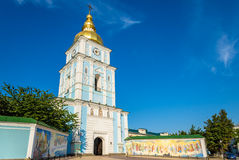 Bell tower of St. Michael Golden-Domed Monastery in Kiev, Ukrain Royalty Free Stock Photo