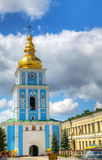 Bell tower at St. Michael monastery in Kiev Royalty Free Stock Photography