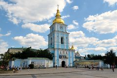 Bell tower of St. Michael's Golden-Domed Monastery, Kiev Royalty Free Stock Photography
