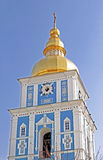 Bell tower of St. Michael`s Golden-Domed Monastery, Kyiv Royalty Free Stock Images