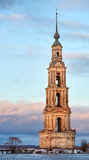 The bell tower of St. Nicholas Cathedral, Kalyazin Royalty Free Stock Photos