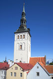The bell tower of St. Nicholas ' Church. Old Tallinn Royalty Free Stock Images