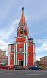 Bell tower of St. Nicolas church in Taganka, Moscow Royalty Free Stock Photos