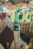 Bell tower of St.Olaf Church in Tallinn, Estonia Royalty Free Stock Photos