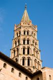 Bell tower of St Sernin Basilica in Toulouse Royalty Free Stock Photo