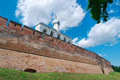 Bell tower of St. Sophia Cathedral. Veliky Novgorod ancient Russian city Royalty Free Stock Images