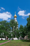 Bell tower of St. Sophia Cathedral. In Vologda city stock photos