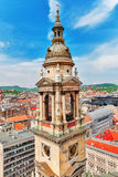 Bell tower of St.Stephen Basilica in Budapest at daytime. Hungar Royalty Free Stock Photo