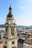Bell tower of St. Stephen Basilica. Budapest. Hungary Stock Photography