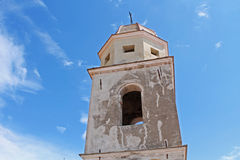 Bell tower. That stands out against the blue sky Stock Photography