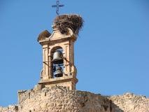 Bell Tower, Stork Nest, Old, Cruz Royalty Free Stock Photo