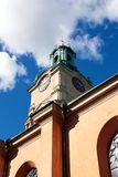 Bell tower of Storkyrkan in Stockholm Stock Photo