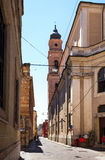 The bell tower on the street Giordano Cavestro Stock Photography