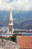 The bell tower of Sveti Ivan (St.John) Catholic Church Cathedral Stock Photography