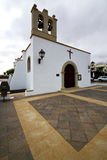 Bell tower teguise    church   arrecife Royalty Free Stock Photos