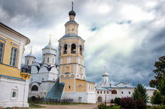 Bell tower and temple Royalty Free Stock Images