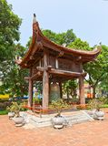 Bell tower in Temple of Literature (circa 1070). Hanoi, Vietnam Stock Photo