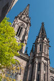 bell tower of the temple st Etienne in Mulhouse Stock Image