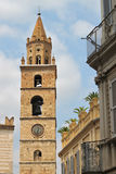 Bell tower of Teramo. A bell tower of the Teramo Cathedral Stock Image