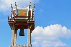 Bell tower thai art Royalty Free Stock Photography