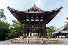 Bell tower at Todai-ji temple in Nara Stock Photos