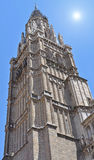 Bell tower of Toledo Cathedral. Spain Stock Photo