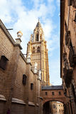 Bell tower of Toledo Cathedral Stock Photo