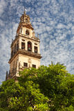 Bell Tower (Torre de Alminar) of the Mezquita Cathedral (The Gre Royalty Free Stock Image