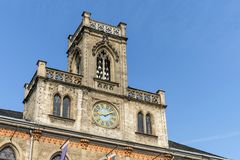 Bell tower of the town hall of Weimar. In germany stock photo