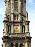 Bell tower in The Trinity Church, Paris. Stock Photo