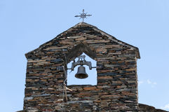 Bell tower of  a typical church of the black architecture Stock Photos