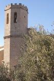 Bell tower in Valderrobres Royalty Free Stock Images