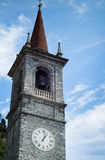 Bell Tower in Varenna Stock Images