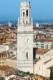 Bell Tower of Verona Cathedral - Italy Stock Photos
