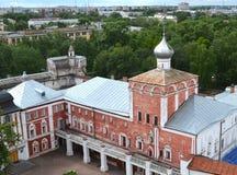 Bell tower view of Simon block Vologda Kremlin Russia stock photos