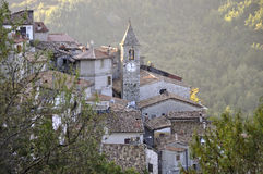 Bell tower in the village Stock Photo