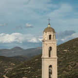 Bell tower in village of Palasca in Balagne region of Corsica Stock Photos