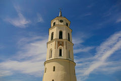 Bell tower of Vilnius Cathedral - one of the distinctive feature Stock Image