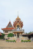 Bell tower at Wat Khun Sai Stock Image