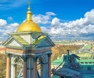 The bell tower's golden dome Royalty Free Stock Photos