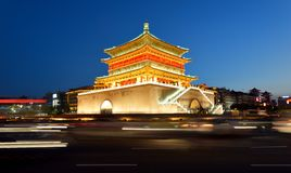 Bell Tower of Xi'an Stock Photography