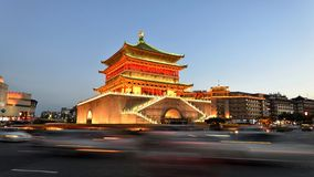 Bell Tower of Xi'an. The Bell Tower of Xi'an, built in 1384 during the early Ming Dynasty, is a symbol of the city of Xi'an and one of the grandest of its kind Royalty Free Stock Photo