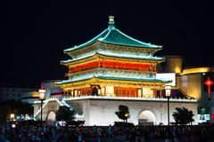Bell Tower of Xi'an Stock Photos