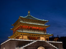Bell Tower of Xian China. Xi an bell tower at night Royalty Free Stock Photo