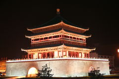 Bell Tower Xian China Royalty Free Stock Photos
