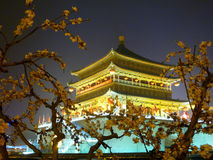 Bell Tower of Xian (China) Royalty Free Stock Images