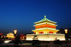 Bell Tower in Xian, China Royalty Free Stock Images