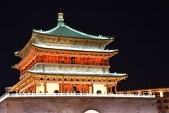 The Bell Tower of Xian, China stock photo