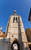 Bell Tower (XVI c.) of Notre Dame du Val in Provins, France Royalty Free Stock Photography